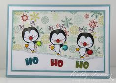 Holiday Penguins, CC Designs, Mini alpha and numbers die