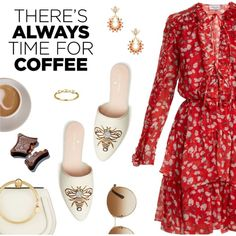 There's always time for coffee by dressedbyrose on Polyvore featuring Raquel Diniz, Chloé, WWAKE, Anton Heunis and Gucci