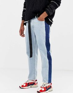 Buy COLLUSION skater jean with contrast side stripe in bleach wash at ASOS. With free delivery and return options (Ts&Cs apply), online shopping has never been so easy. Get the latest trends with ASOS now. Loose Jeans, Jeans Fit, Cropped Jeans, Tall Wide Leg Trousers, Long Sleeve Tops, Long Sleeve Shirts, Skater Jeans, Jean Délavé, Asos Men