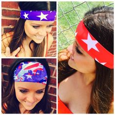 Finish off your 4th Of July look with fabulous headbands! Shop www.hippierunner.com