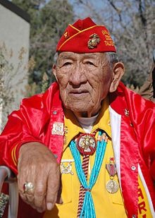 "World War II ""Windtalker"" - Dan Akee an actual Navajo Code Talker of the Diné Nation"
