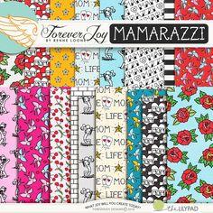 Digital Scrapbooking Kit - MAMARAZZI Page Kit | ForeverJoy Designs