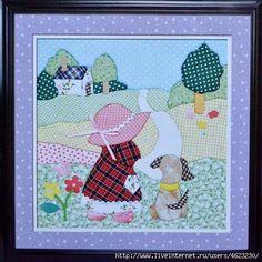 Patchwork sin agujas Quilt Patterns Free, Applique Patterns, Applique Quilts, Applique Designs, Embroidery Applique, Embroidery Designs, Sunbonnet Sue, Quilt Baby, Patch Quilt