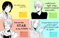 Hetalia Valetine cards. Please somebody give one of these to me, this is amazingness!!