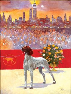 Kan-Point's VJK Autumn Roses) winning Best in Show at Westminster Kennel Club dog show in New York 2005 )) Westminster Dog Show, Autumn Rose, German Shorthaired Pointer, Dog Art, Dog Pictures, Pet Portraits, Best Dogs, Illustrators, Pup