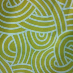 Yellow and patterned fabric