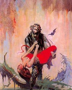 "Frank Frazetta ""The Monster Men"" Oil on canvas •1963•"