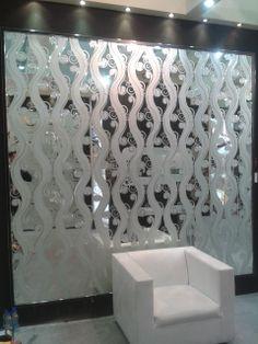 E-10, Silver Bathroom Mirror Design, Mirror Tiles, Mirror Art, Glass Tiles, Mirrors, Sand Glass, Glass Art, Ad Design, Door Design