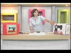 Sonia Franco. Programa Nuestra Casa. Cubre Máquina con aplicaciones 2/5