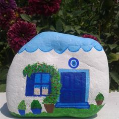 #blue#house#sea#stone#colors#sea#love_is_blue#colors#Begonvil#taş_boyama# Dışarsı sıcak olduğundan evde taş boyamayı tercih ettim...