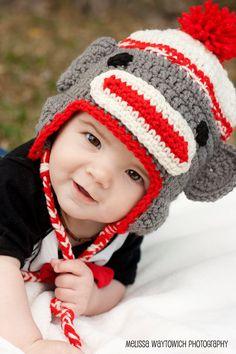Sock Monkey Hat by KikkinKazKreations on Etsy, $20.00