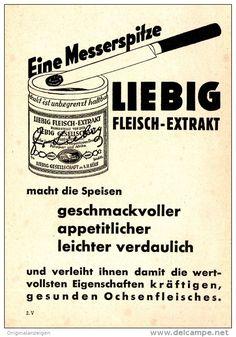 Original-Werbung/ Anzeige 1936 - LIEBIG FLEISCH EXTRAKT - ca. 110 x 150 mm