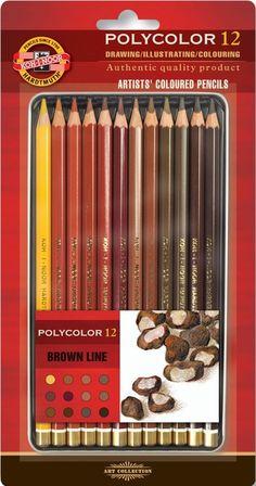 BLOG EDUKACYJNY DLA DZIECI Koh I Noor, Brown Line, Coloured Pencils, Drawings, Blog, Line Artist, Peles, Airmail, Current Events