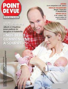 La couverture de Point de Vue du 31 décembre 2014, dédiée aux jumeaux de Monaco.