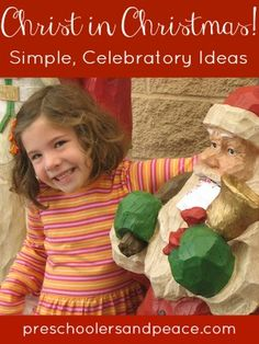 Ideas to Keep Christ in Christmas! — Preschoolers and Peace Birth Of Jesus, Epiphany, Some Fun, Advent, Peace, Holidays, Super Simple, Homeschooling, Christmas Ideas