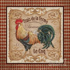 Old World Le Coq-jp3090 Print By Jean Plout