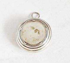 Antique French Powder Compact Pendant Locket by GrandpasMarket