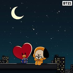 How to get Chimmy? Or should we say How to get Tata? Cartoon Wallpaper, Bts Wallpaper, Iphone Wallpaper, Screen Wallpaper, Old Best Friends, Line Friends, Bts Vmin, Bts Chibi, Bts Fans