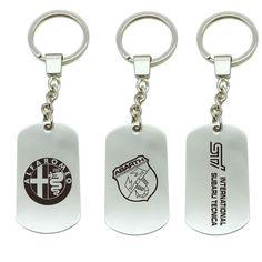 Auto KeyRing For BMW Alfa Romeo Fiat 500 peugeot Logo Metal KeyChain Badge Key Ring Emblem Key Holder Chain Review
