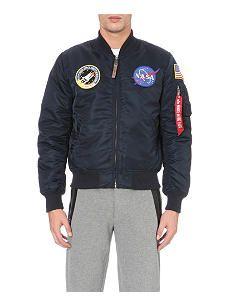 ALPHA Alpha nasa ma-1 satin flight jacket