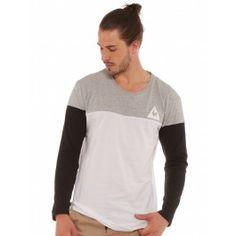 14fa78680c Le Coq Sportif Technique Long Sleeve T-Shirt in White Grey   Black