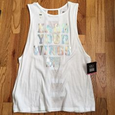 NWT Victoria's Secret VSX Fashion Show Tank M NWT size medium. Cut outs on back. VS sold this as a VSFS item. Price firm. Victoria's Secret Tops Tank Tops