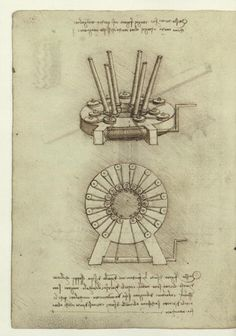 Leonardo da Vinci inventions: Kinematic Models (from Codex Madrid I : The Madrid Codices: National Library Madrid, Lib. # 8937)