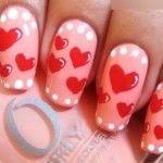 heart nail art designs for valentine