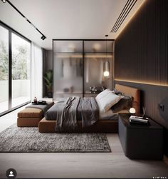 Modern Luxury Bedroom, Master Bedroom Interior, Modern Master Bedroom, Modern Bedroom Design, Home Room Design, Luxurious Bedrooms, Modern House Design, Home Bedroom, Home Interior Design