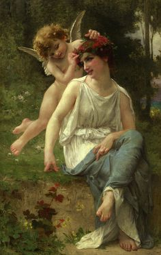 Guillaume Seignac (1870-1924) Cupid Adoring a Young Maiden by Art & Vintage, via Flickr