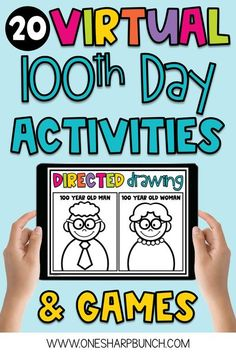Easily plan a fun and engaging virtual 100th Day of School with these digital 100th Day of School activities for Kindergarten and First Grade! These virtual 100th Day activities are no prep, so they can be completed during remote instruction, as well as in-person learning. To help target academic skills, these 100th Day ideas integrate reading, writing and math. Plus, there are fun 100th Day games and a 100th Day directed drawing! #100thday #100thdayofschool #100thdayactivities…