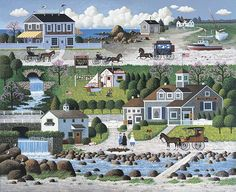 by Charles Wysocki love this stuff...grew up seeing it all over the place in New England/Cape Cod/My mom's house.