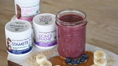 Paul Stamets' signature smoothie recipe is a mixture of Host Defense® Lion's Mane, Stamets and Turkey Tail mushroom mycelium powder. Get the full recipe here! Vitamix Recipes, Smoothie Recipes, Vegan Recipes, Healthy Smoothies, Healthy Fats, Whole 30 Vegan, Turkey Tail Mushroom, Host Defense, Vegane Rezepte