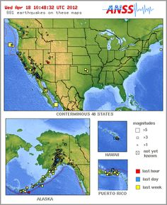 Earthquake website to find the most recent earthquakes