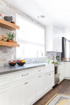 All We Want Are These 8 Kitchens With Gray Countertops | Hunker