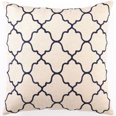 Navy Embroidered Pillow - Decorative Pillows - Home Accents - Home Decor | HomeDecorators.com