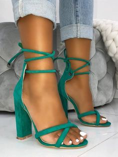 aec1d78cf4cc Shop Suede Crisscross Strappy Chunky Heeled Sandals right now, get great  deals at Joyshoetique.