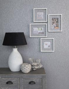 Rasch Textil Amira 3 - Mit der grauen Unitapete wird jede Wandgestaltung zum Hingucker.