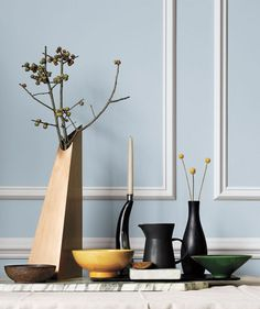 Vases and bowls from Real Simple #modernthanksgiving