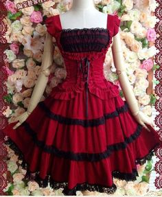 Japanese Vintage Punk Gothic Lolita Dress Lace Sweet Cosplay Dress Costume. | Clothing, Shoes & Accessories, Women's Clothing, Dresses | eBay!