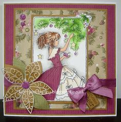 Lili of the Valley DT Christmas Girl Victorian Winter Christmas, Christmas Crafts, Christmas Girls, Mo Manning, Mo S, Penny Black, Digi Stamps, Lily Of The Valley, Poinsettia