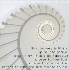 when it feels like you are going round in circles, or when it is all just so overwhelming -- remember the spiral staircase #lighthouserevolution