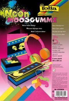 """Folia Moosgummi """"Neon"""", 20 x 29 cm, 5 Blatt € 5,95"""