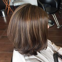Brown Bob With Highlights, saving for colour.