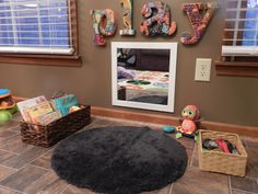 life in projects: Baby Nook Baby Play Areas, Indoor Play Areas, Kids Play Area, Kids Room, Play Corner, Kids Corner, Baby Playroom, Playroom Ideas, Toddler Classroom