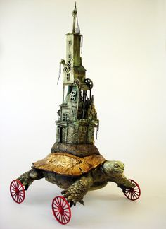 Turtlaneum Imperialis  Surrealistic Turtle on by spiderjelly, $1500.00