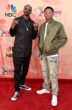 Snoop Dogg and Cordell Broadus. See what Taylor Swift, Iggy Azalea, and more wore at the iHeartRadio Music Awards. (Cutouts! Zebra print!)