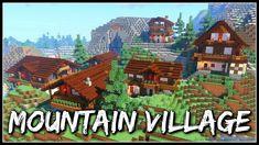 Minecraft Timelapse | Mountain Village Minecraft Japanese House, Minecraft Houses, Minecraft Designs, Minecraft Ideas, Minecraft Mountain, Lego Helicopter, Japanese Mountains, Mountain Village, Survival