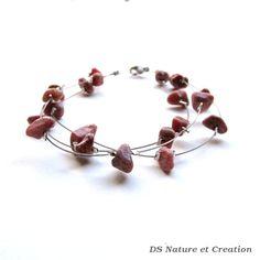 Bracelet pierre rose naturelle, bijou rhodonite, bijou pierre rose, bracelet cristal rose, bijou boheme, bracelet rhodonite gypsy, trysna de la boutique DSNatureetCreation sur Etsy https://www.etsy.com/fr/listing/253276675/bracelet-pierre-rose-naturelle-bijou