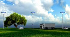 Eco Mushroom: A solar streetlight that absorbs vehicle pollution